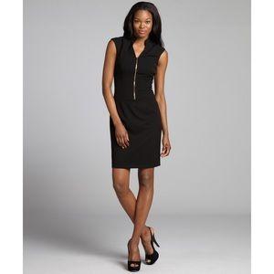 Tahari ASL Black Zip Front Dress